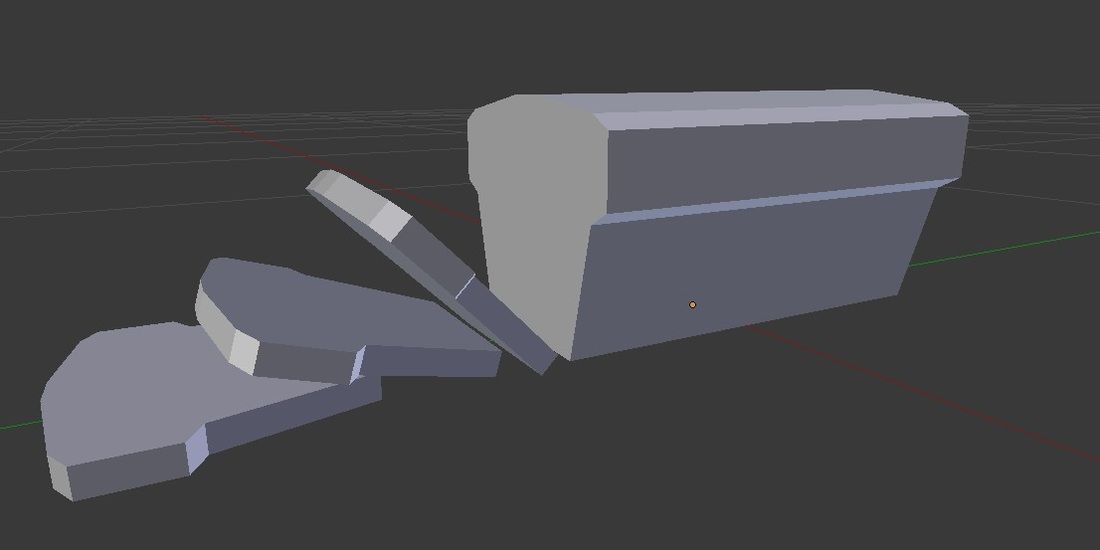 How to Slice Objects into Parts Using Face Loop Cut in Blender