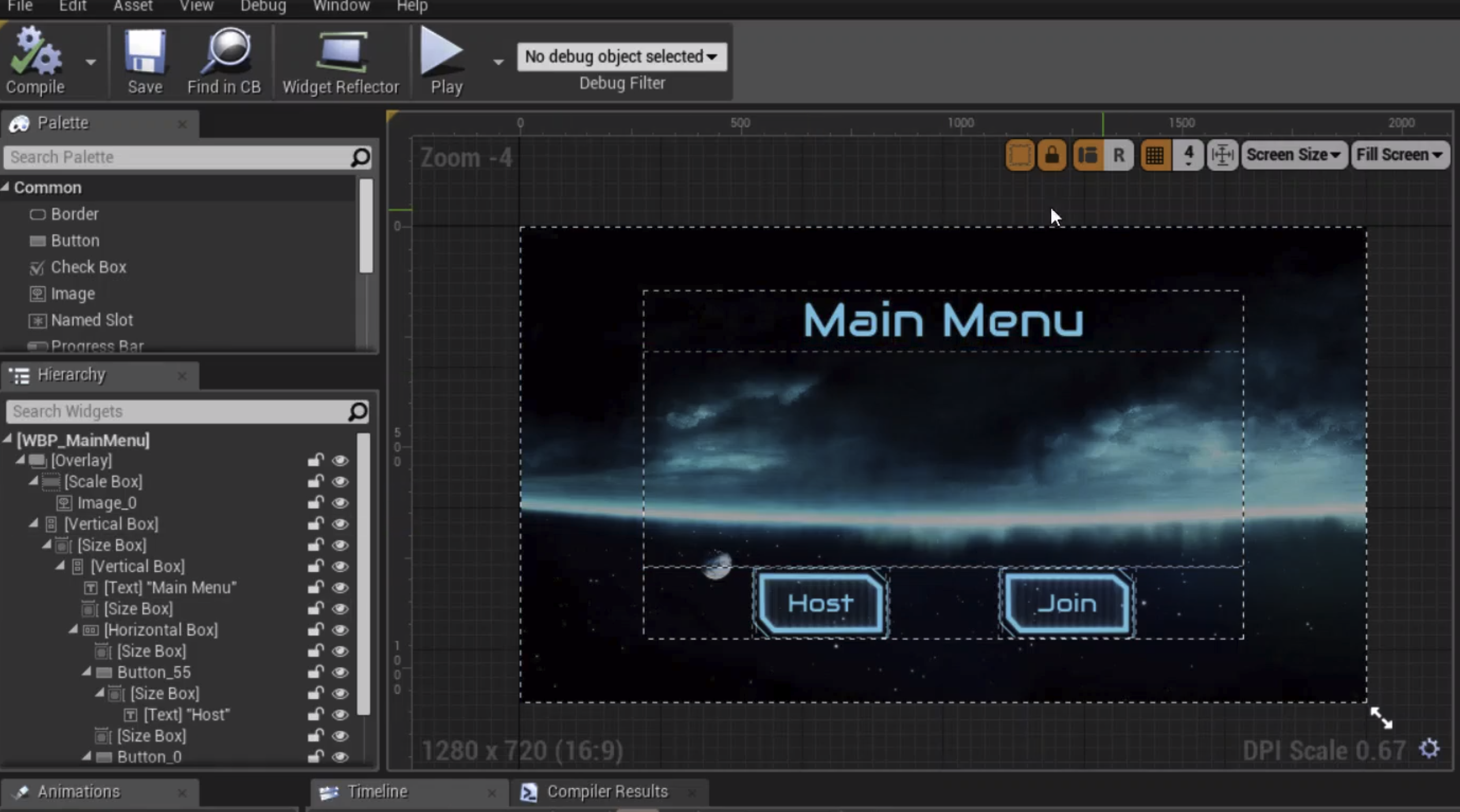 Creating Unreal Engine UI with UMG and C++